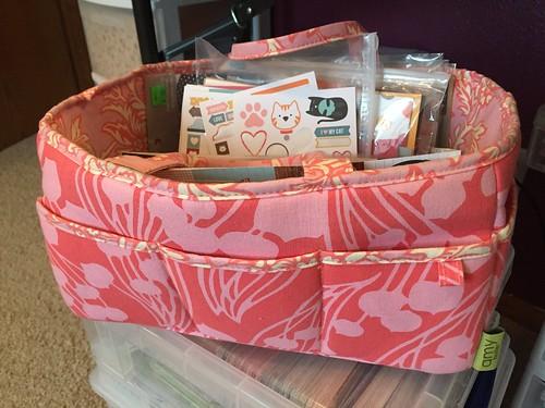 Amy Butler Lotus Tea Box Scrapbooking Tool Caddy
