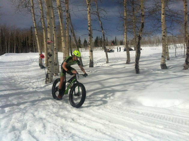 The first US National Fat Bike Championship in Ogden, Utah on Feb. 14, 2015.