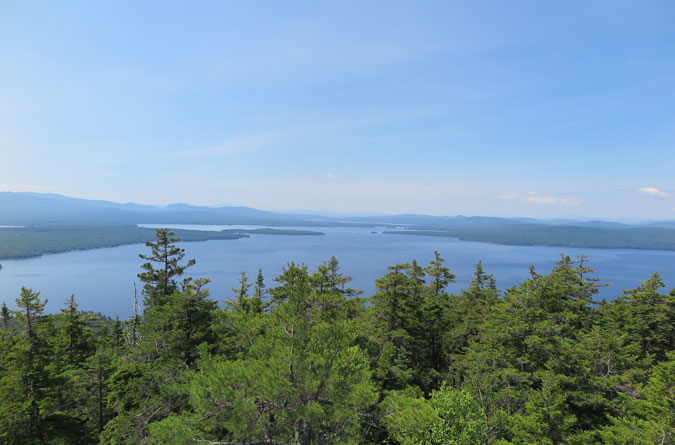 Bald Mountain Maine View Mooselookmeguntic Lake