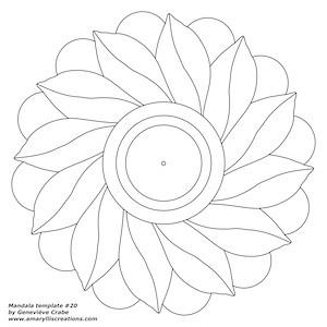 Mandala template 20