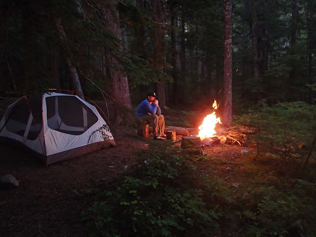 Resting By The Fire At Deception Creek