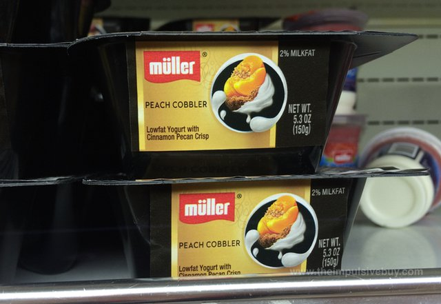 Muller Dessert Inspired Peach Cobbler Yogurt