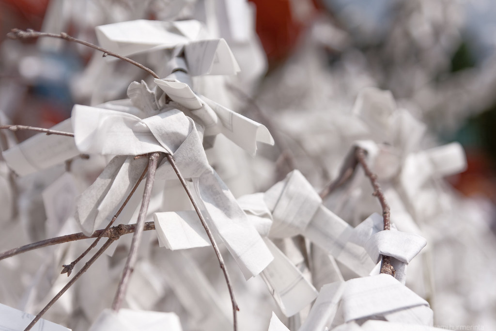 Omikuji at the Heian Shrine