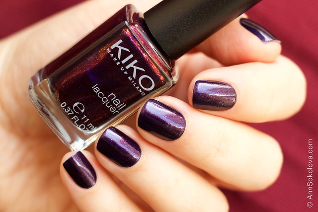 04 Kiko #497 Pearly Indian Violet nail laquer swatches