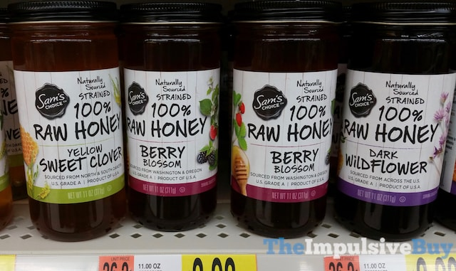 Sam's Choice 100% Raw Honey (Yellow Sweet Clover, Berry Blossom, and Dark Wildflower)