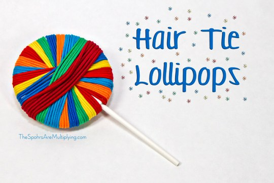 Hair Tie Lollipops