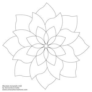 Mandala template 23