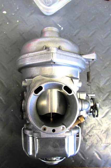 Outlet Side of of Restored / Rebuilt Carburetor