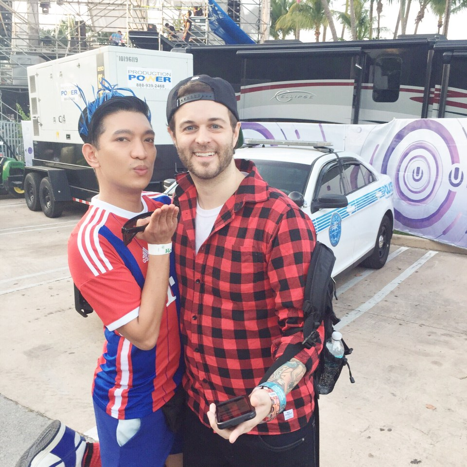 Bryanboy and Curtis Lepore at Ultra Music Festival Miami 2015 Day 3
