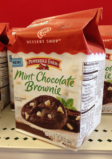 Pepperidge Farm Dessert Shop Mint Chocolate Brownie Cookies