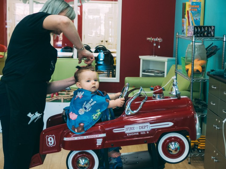 Ezra's First Haircut