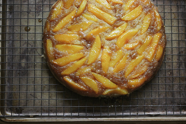 KitchenAid® Artisan® Mini Summer Peach Upside Down Cake| Southern Soufflé