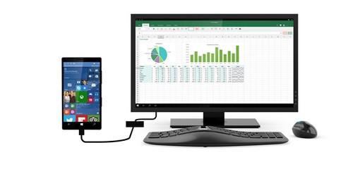 แนวคิด Windows Continuum คือ สมาร์ทโฟน ต่อจอ คีย์บอร์ด เมาส์ ใช้เป็นคอมพิวเตอร์ได้เลย