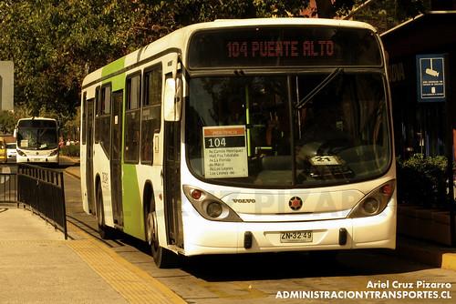 Transantiago - Inversiones Alsacia - Marcopolo Gran Viale / Volvo (ZN3249)