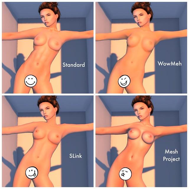 Mesh Body Comparison Collage 2014