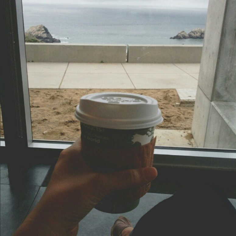Coffee with a view #coffee #fromwhereisit #sf #sanfrancisco #landsend