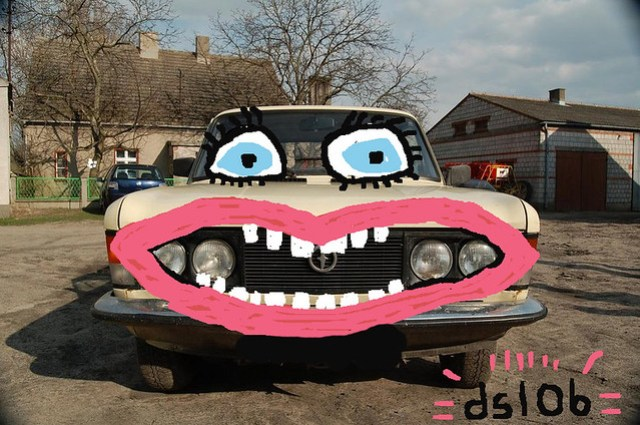 Car with face
