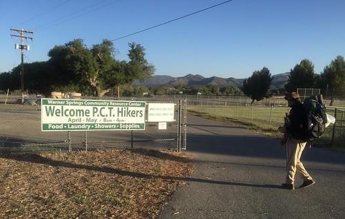 Hiking out of Warner Springs