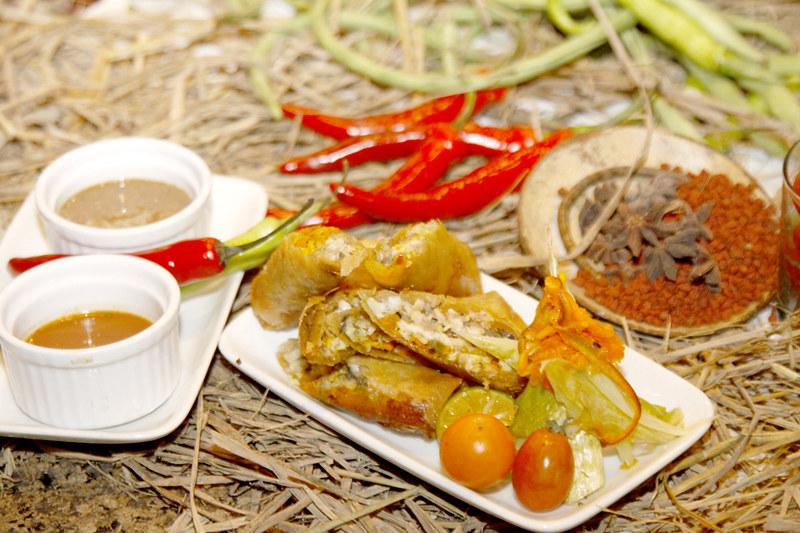 Chef JP Anglo's Bangus Spring Rolls with Talangka Vinegar and Batikulon Mang Tomas Sauce