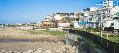 【台北】。來去三芝淺水灣 Bossa Nova *戲水。看海。喝杯跟臉一樣大的水果茶 │北海岸放空篇