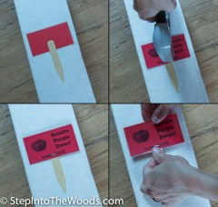 Staple the Garden Sign to a Popsicle Stick