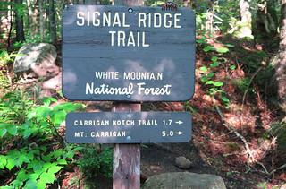 Signal Ridge Trail Sign