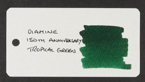 Diamine 150th Anniversary Tropical Green - Word Card