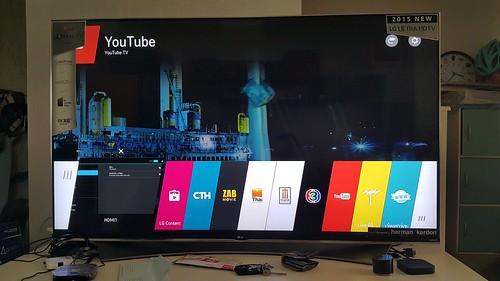 ดู YouTube บน LG SUPER UHD 65UF950T