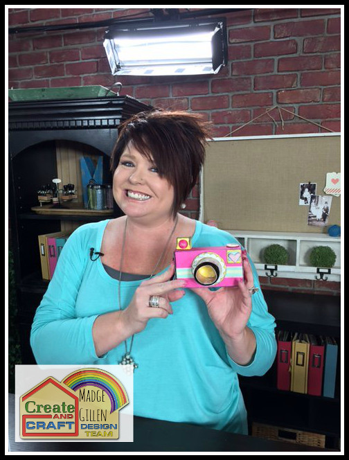 Madge Gillen with Camera created for Create and Craft