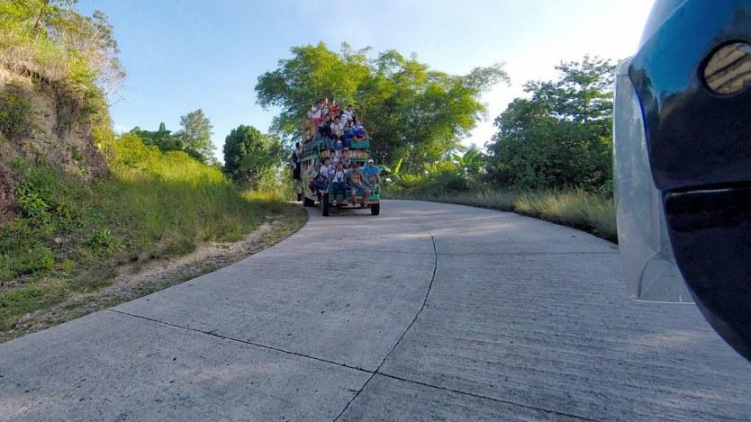 Hitting the roads on Palawan.