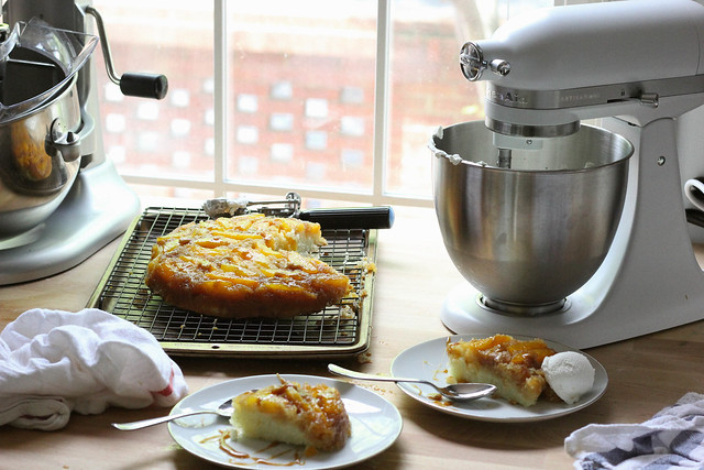 KitchenAid® Artisan® Mini Summer Peach Upside Down Cake| Southern Soufflé