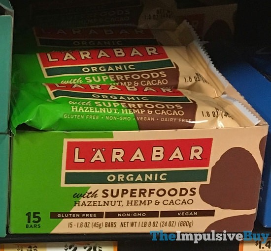 Larabar Organic with Superfoods Hazelnut, Hemp & Cacao