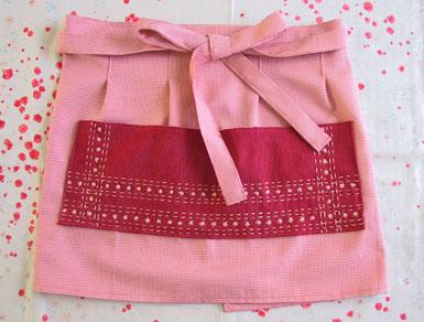 Sashiko apron