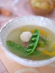 鶏団子と春きゃべつのスープ  20150414-DSCF0679