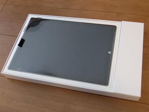 Surface Pro 3の箱を開封