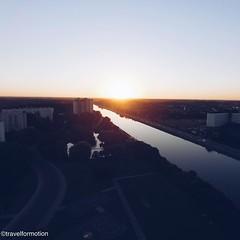 #summer #sunset #gent #ghent #visitgent #watersportbaan #sky #view #vsco #vscocam #guardiantravelsnaps #travel #travelgram #wanderlust #ghentcity #belgium #igbelgium #water #landscape #blue
