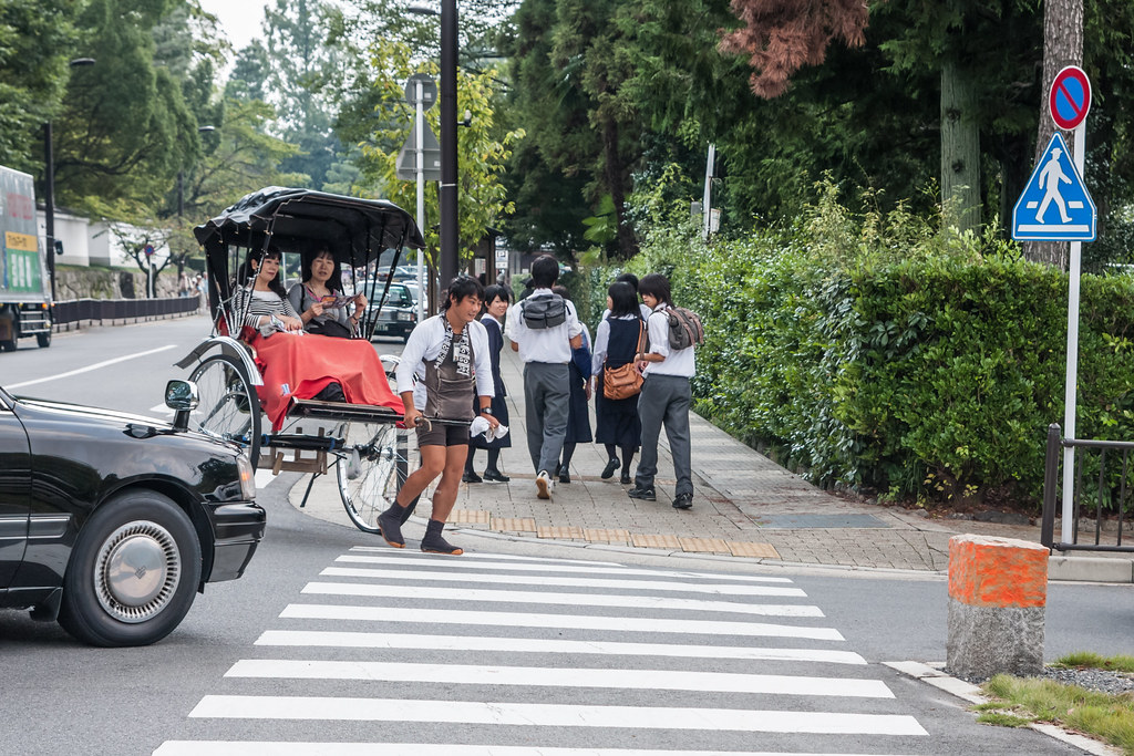 Rikshaw ride in Kyoto