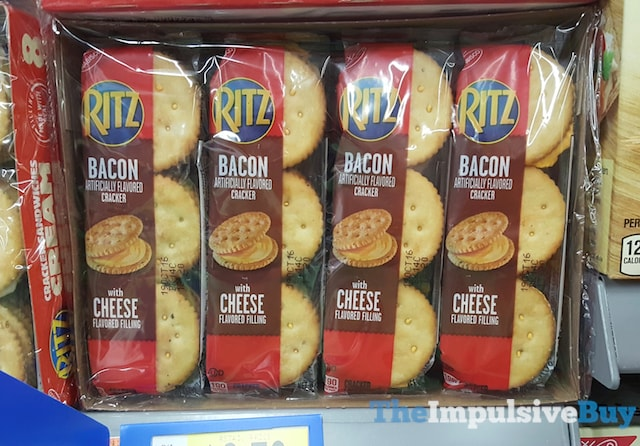 Ritz Bacon Crackers with Cheese Flavored Filling