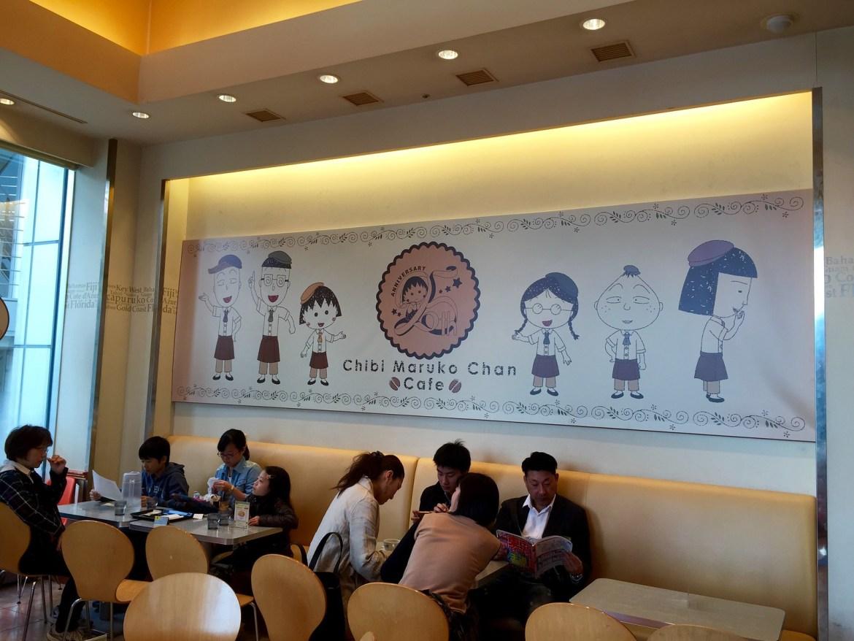 Inside ambience at Chibi Maruko Chan Cafe at FUJI TV building Odaiba