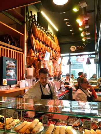 Tapas Market in Madrid, Spain