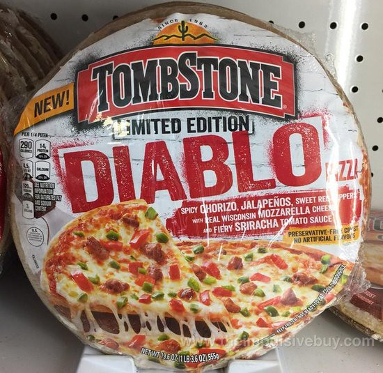 Tombstone Limited Edition Diablo Pizza
