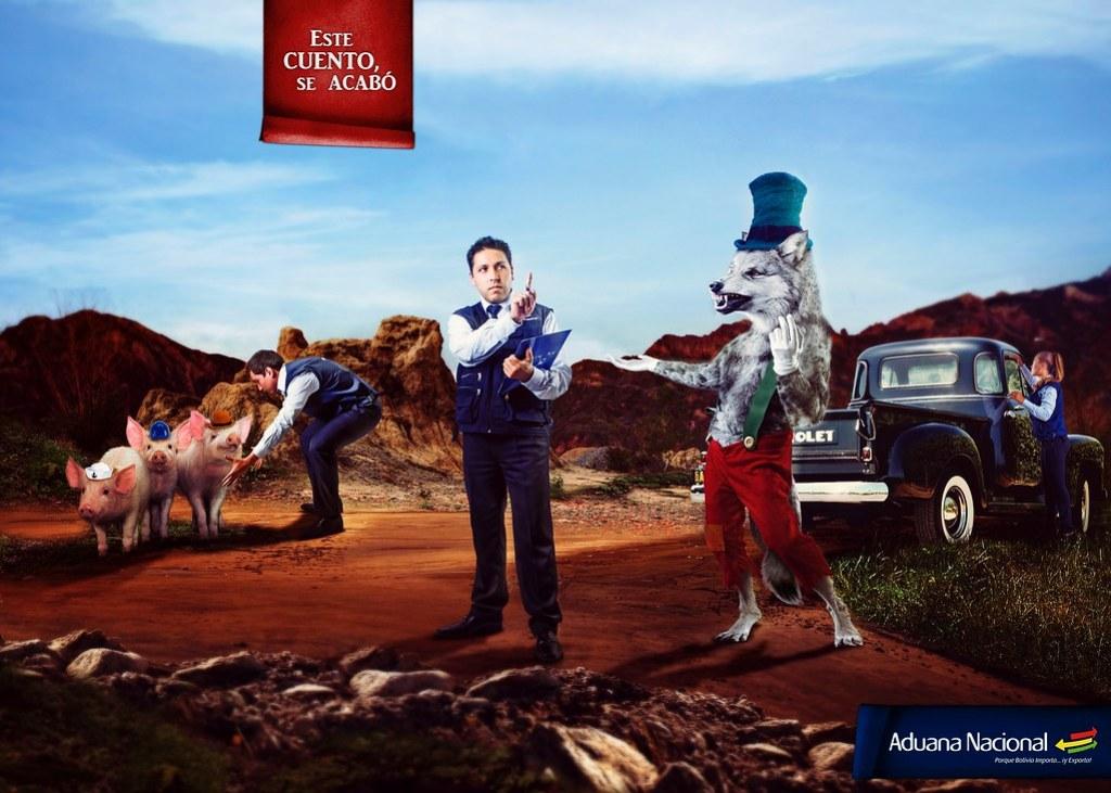 Aduana Nacional de Bolivia - This story ends here 3 Little Pigs