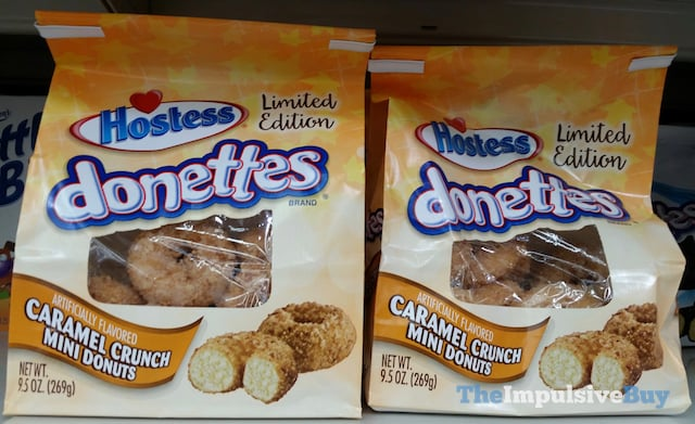 Hostess Limited Edition Donettes Caramel Crunch Mini Donuts