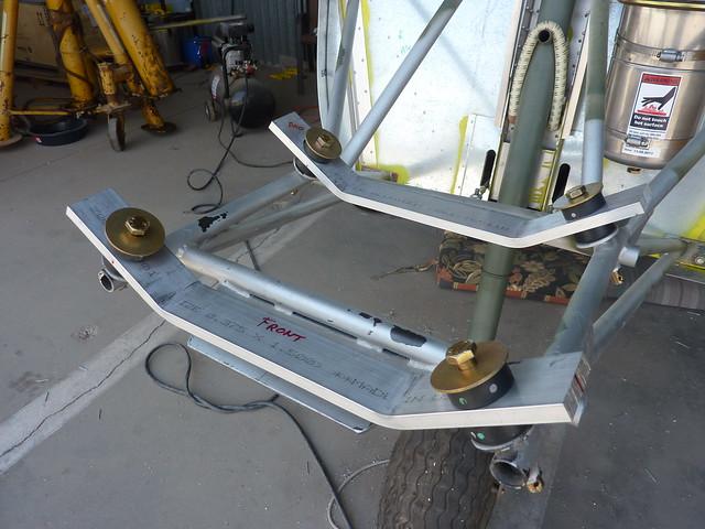 Both engine mount brackets drilled
