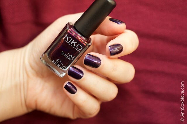 03 Kiko #497 Pearly Indian Violet nail laquer swatches