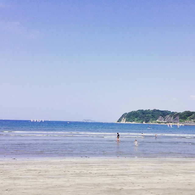 Zushi Beach in Sunday Morning.