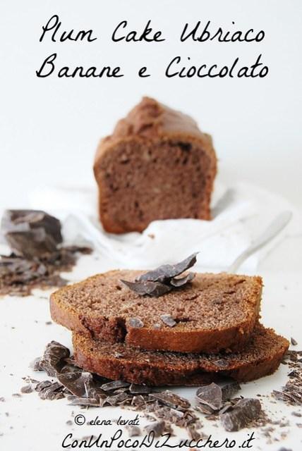 Plum cake ubriaco di banane e cioccolato