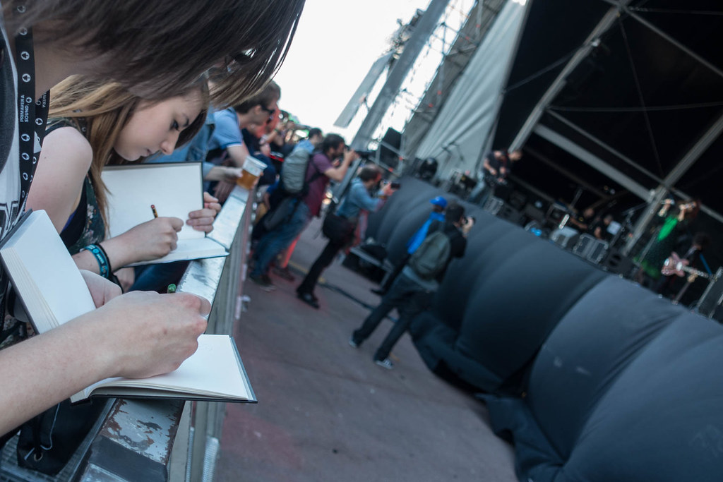 Primavera Sound 2015 - Sketching Yasmine Hamdan