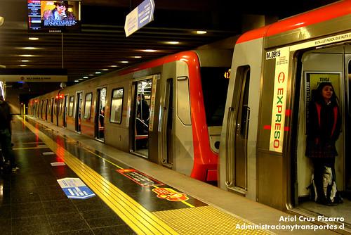 Metro de Santiago - Alstom AS2002 R4445 R4458 - Grecia (Línea 4)