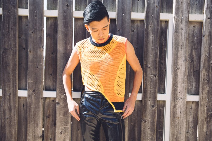Bryanboy in a Prabal Gurung sleeveless asymmetrical knit top